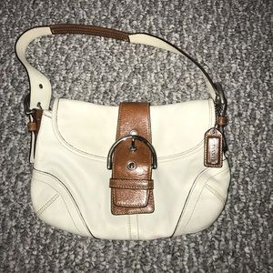 Authentic Coach White Leather Purse